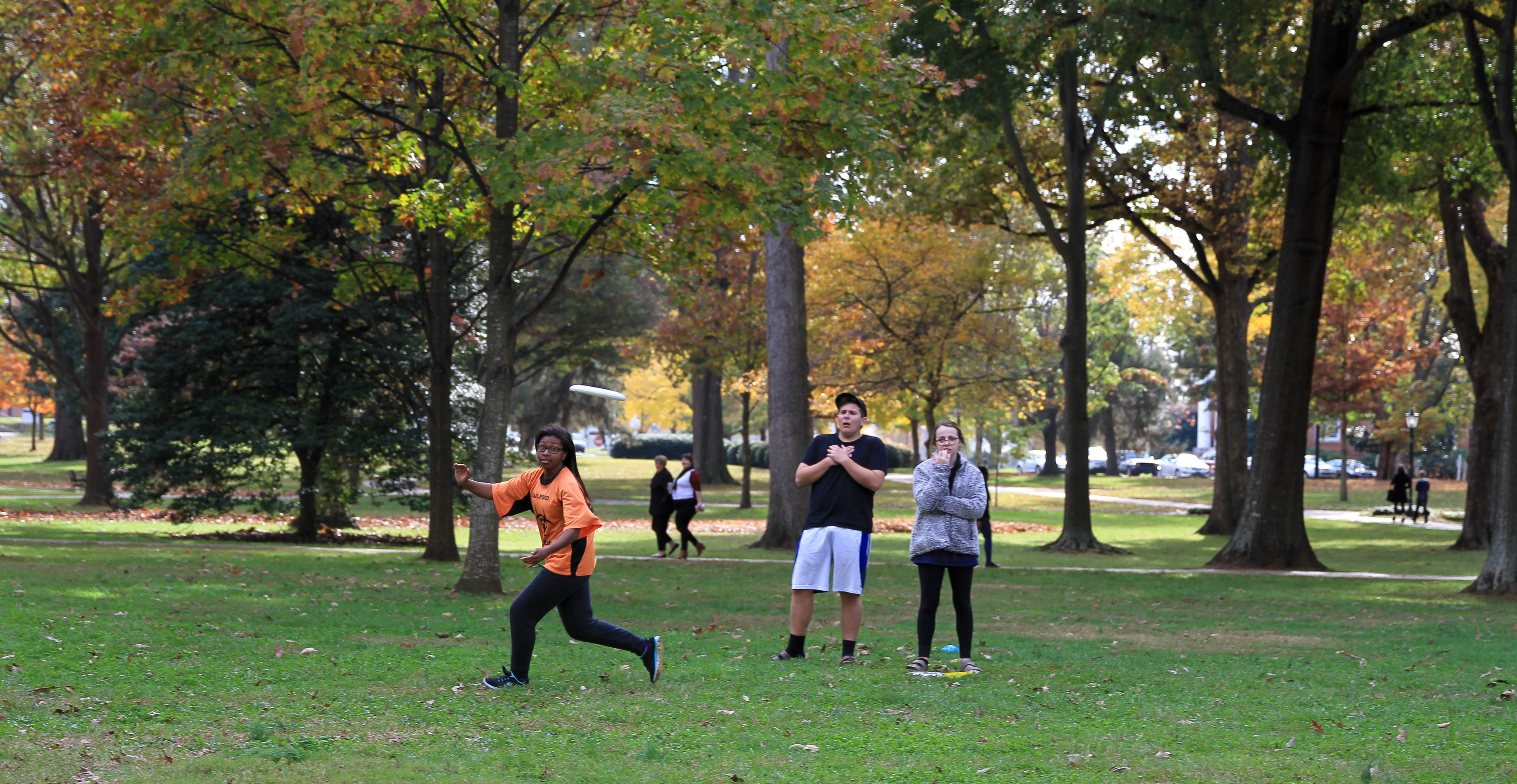 Ultimate Frisbee was popular with students at the Sport Spectacular.