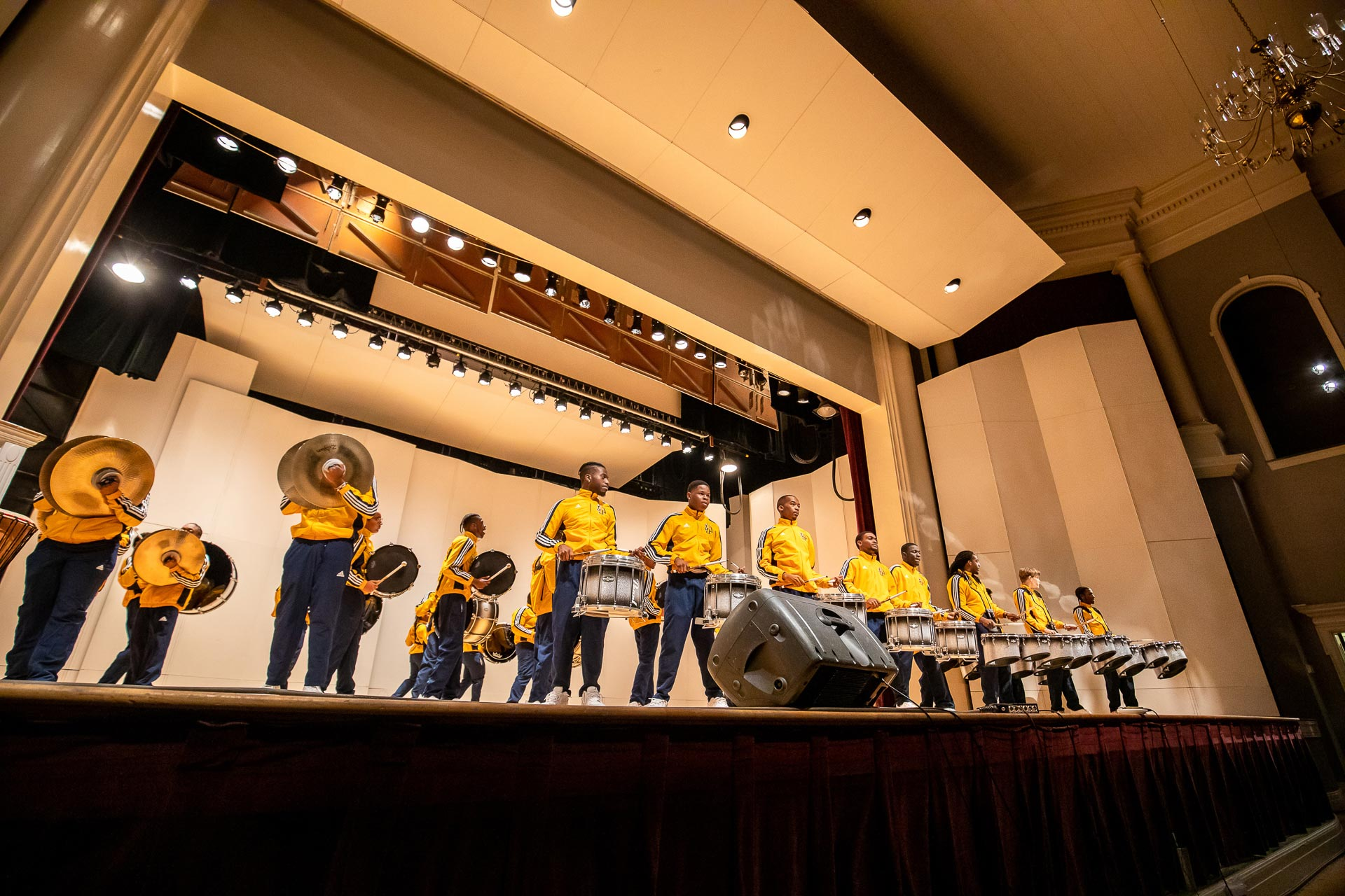 NC A&T's Coldsteel Drumline led by Dr. Lamon Lawhorn