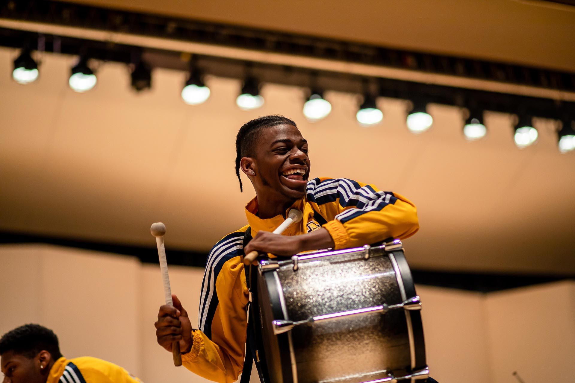 NC A&T's Coldsteel Drumline made some noise in Dana Auditorium!