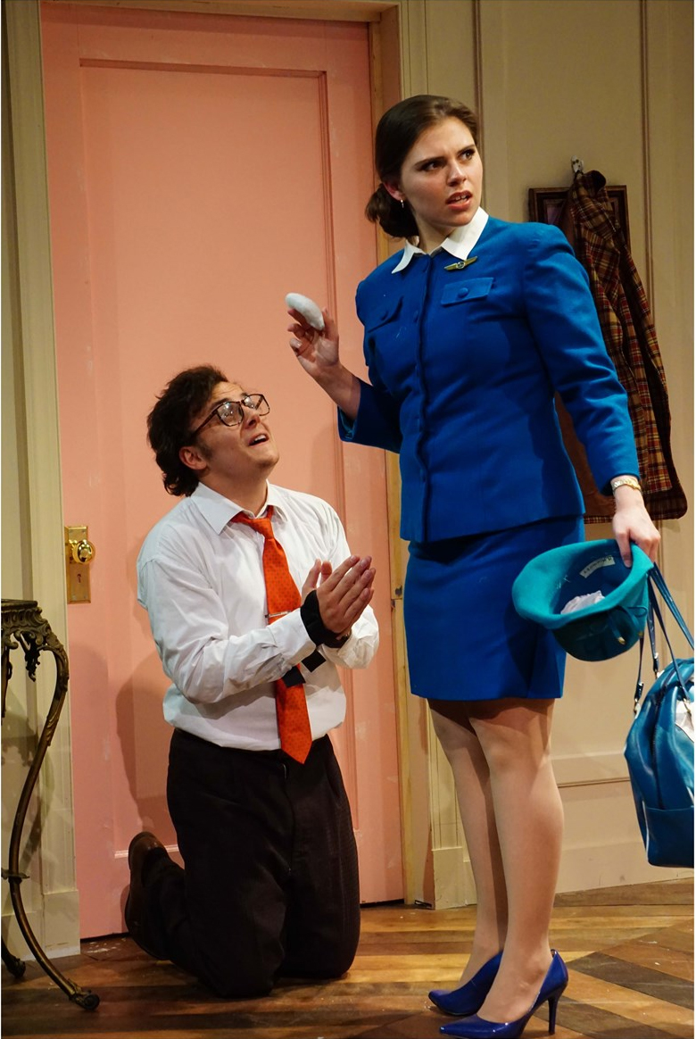 "Scene from ""Boeing Boeing"" a Guilford College Theatre Production in 2016."