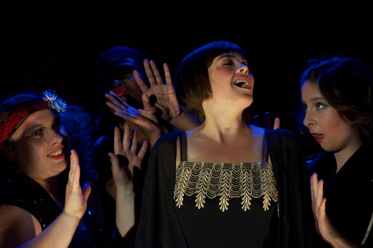 "Scene from ""Cabaret"" a Guilford College Theatre Production in 2013."