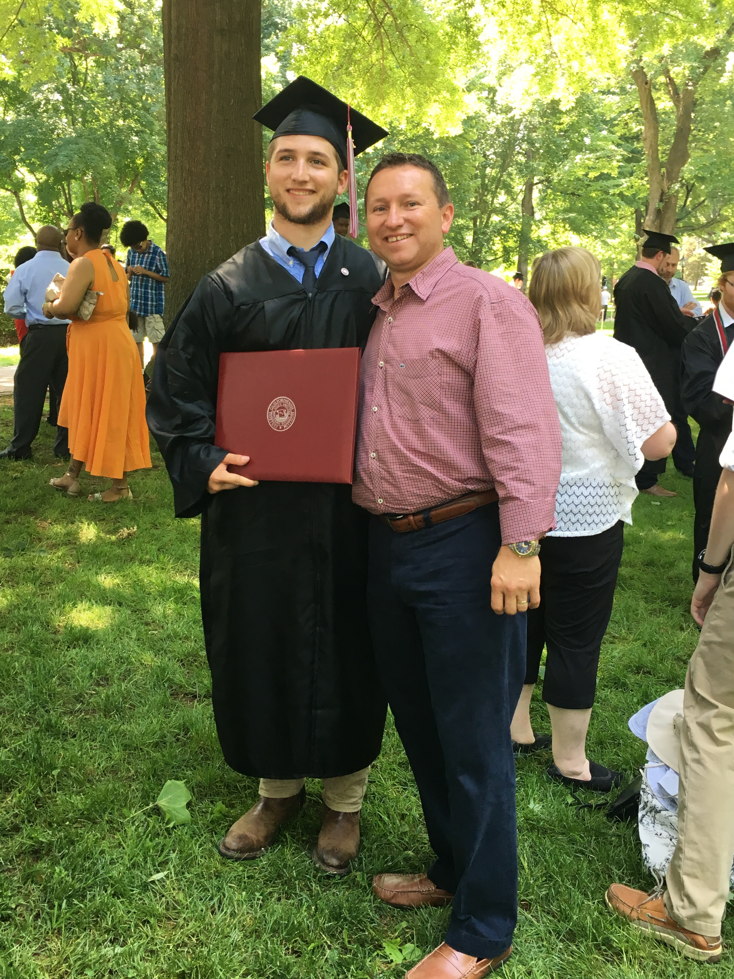 Proud papa with his graduate!