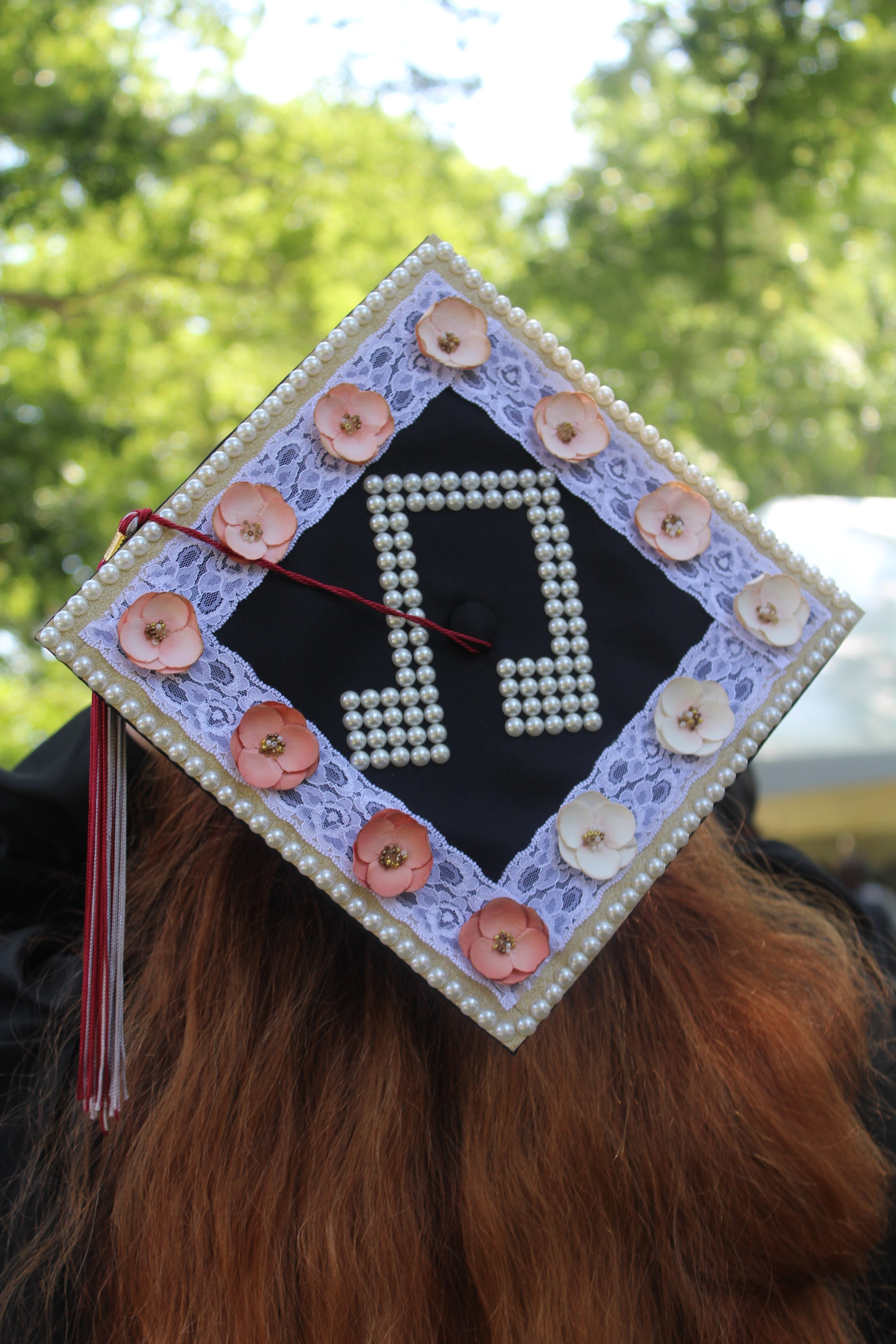 A decorated graduation cap for the musically inclined.