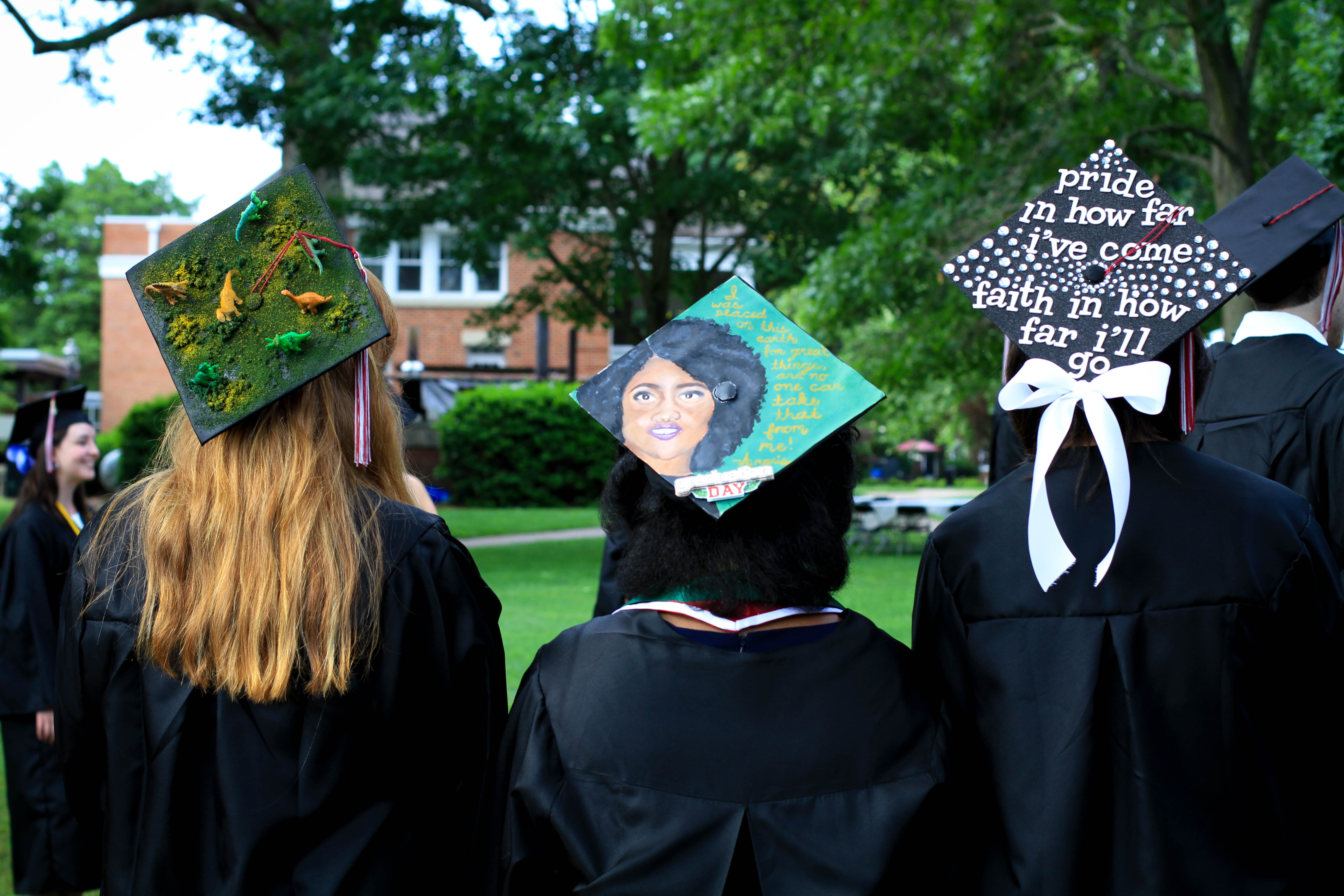 We loved seeing all of the decorated graduation caps!