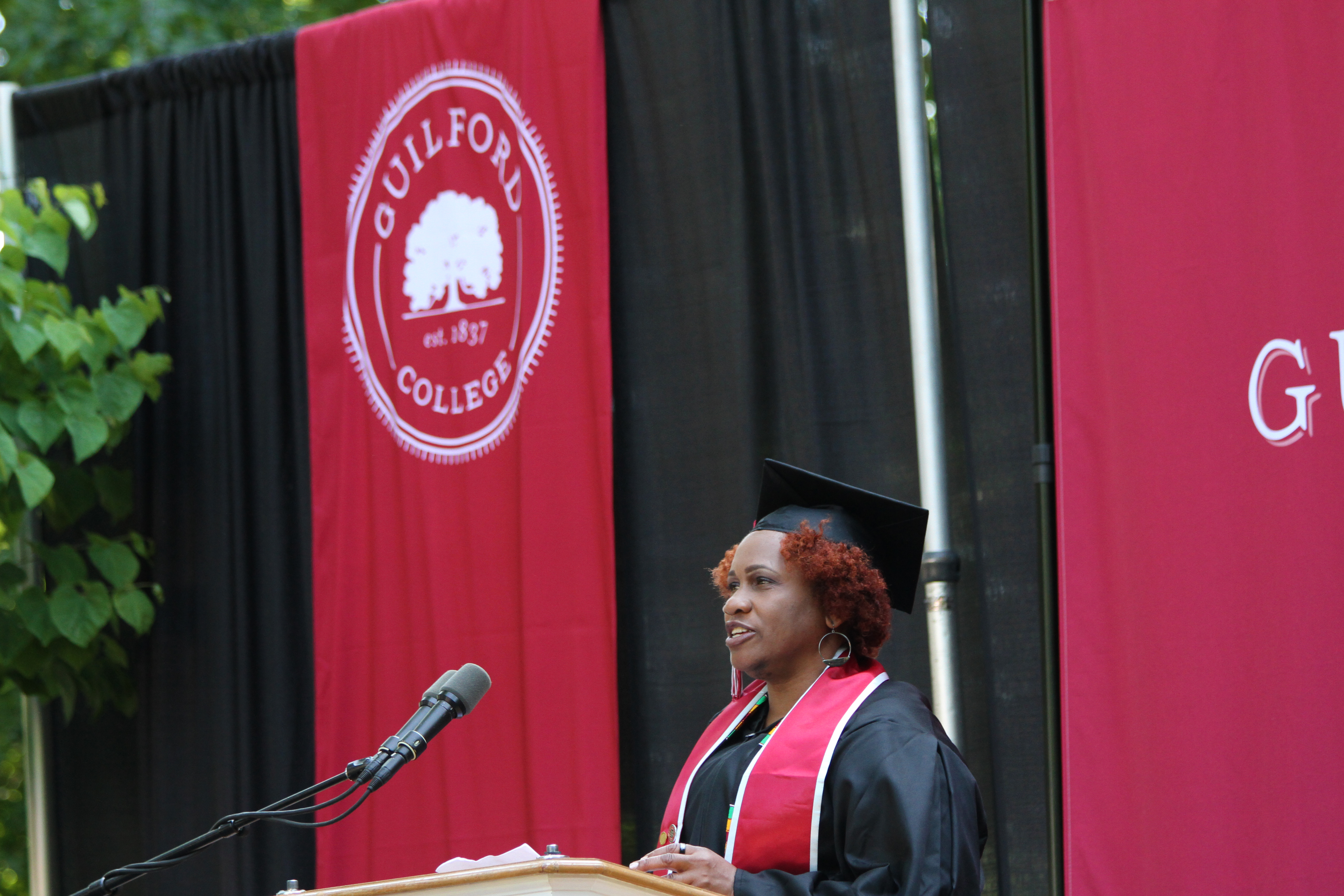 CCE Student Speaker Theresa Gregory.