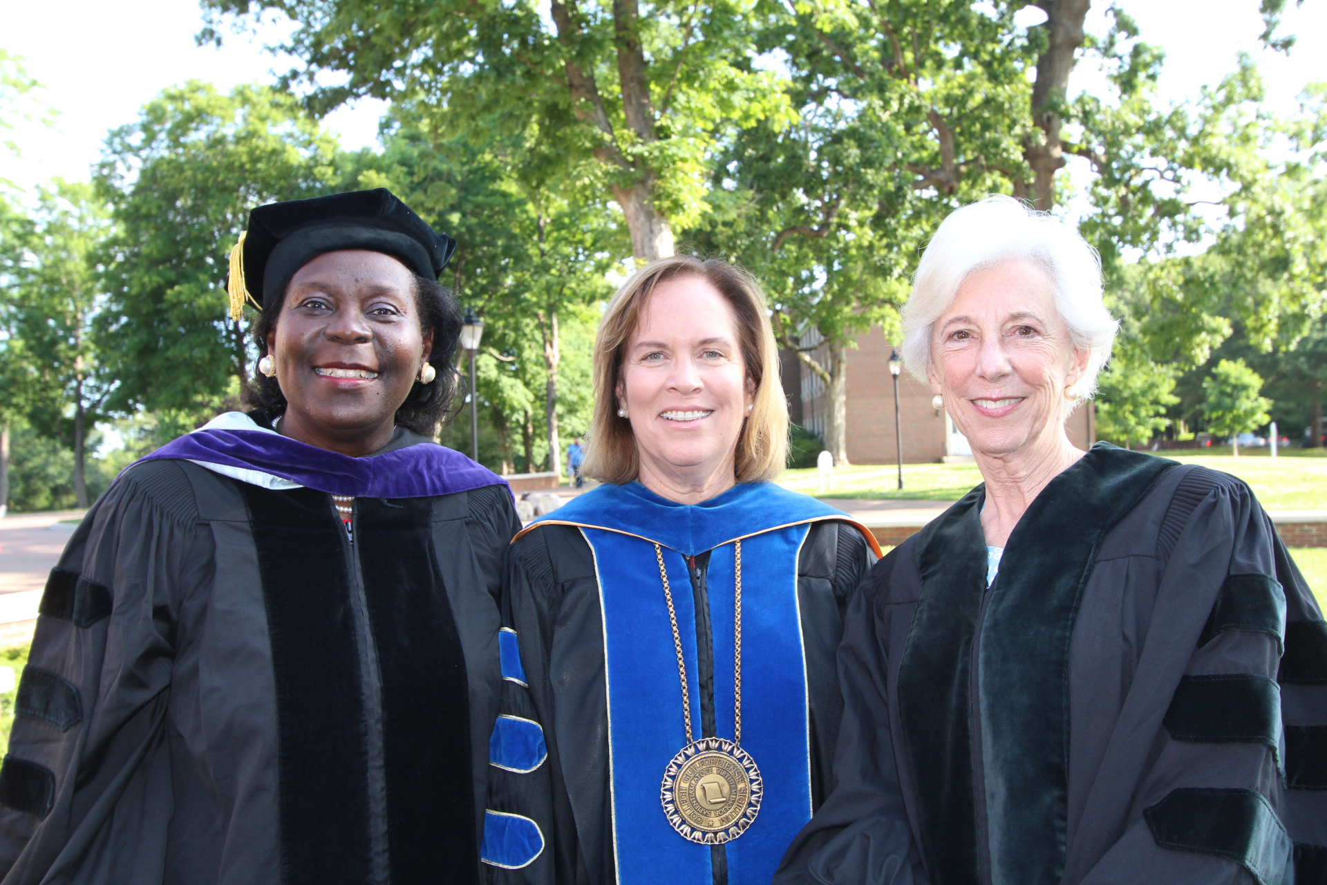 President Jane Fernandes with Patricia Timmons-Goodson and Adair Phifer Armfield.