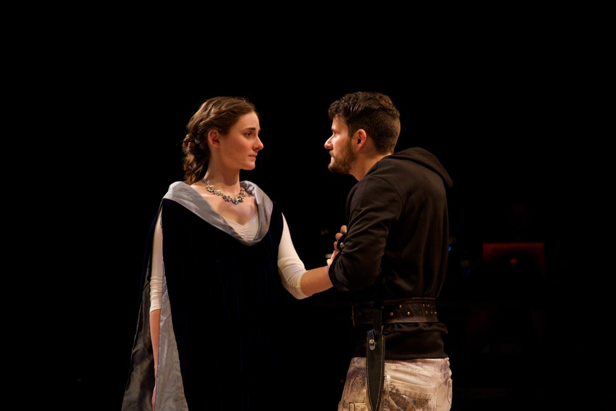 "Scene from ""House of York"" a Guilford College Theatre Production in 2015."
