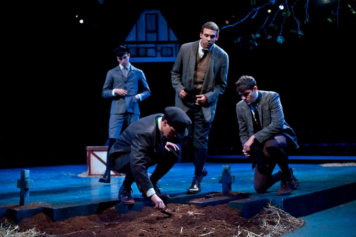 "Scene from ""Spring Awakening"" a Guilford College Theatre Production in 2013."