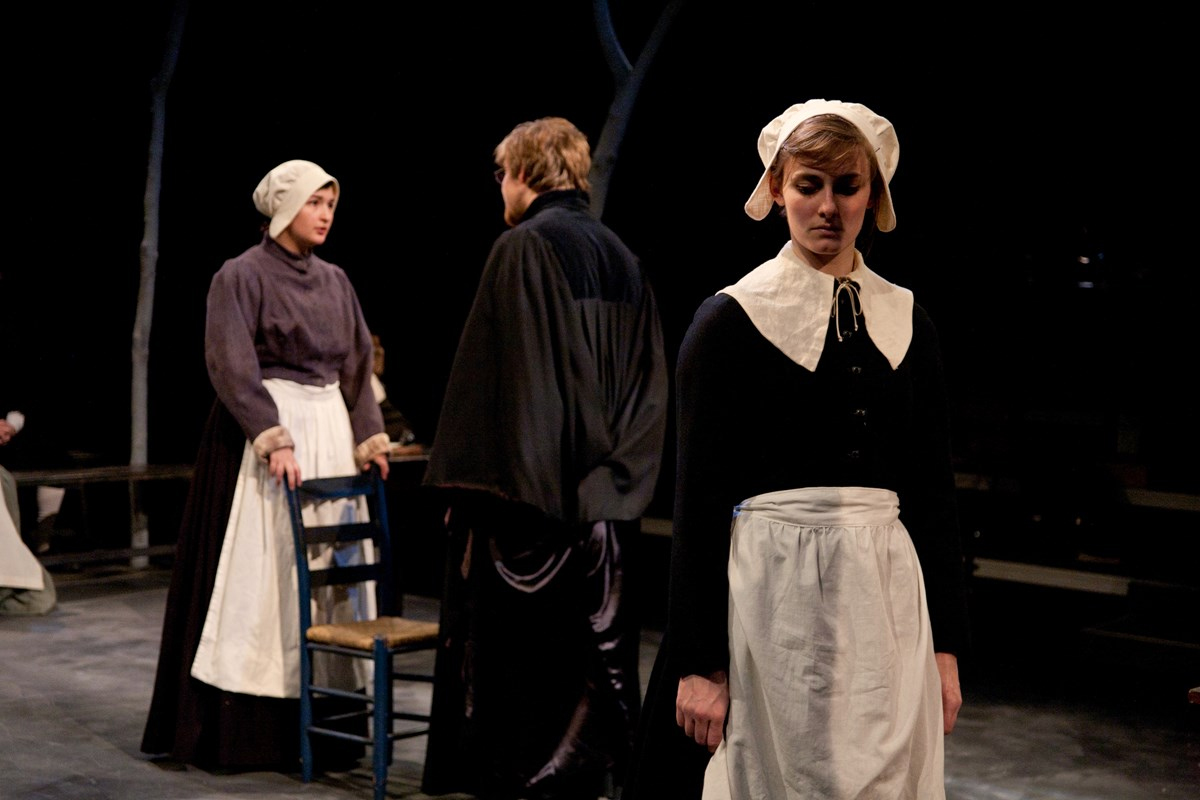 "Scene from ""The Crucible"" a Guilford College Theatre Production in 2015."