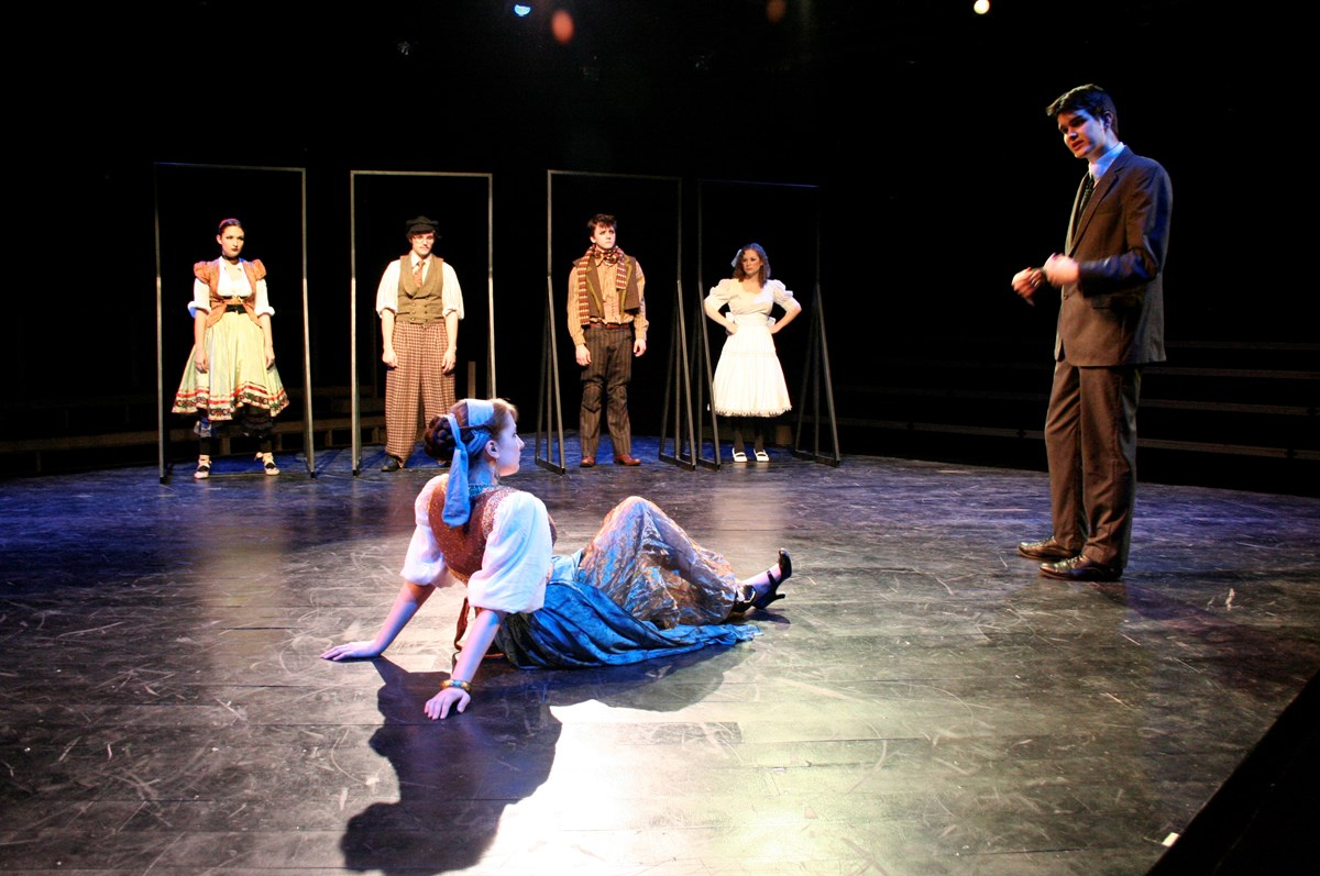 "Scene from ""The Trial"" a Guilford College Theatre Production in 2013."
