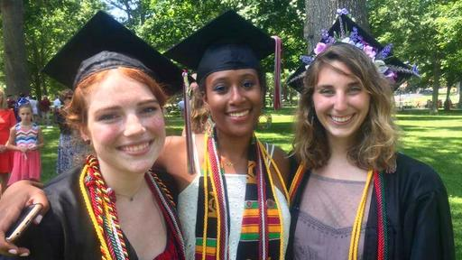 Guilford College Honors students celebrate at Commencement 2017.