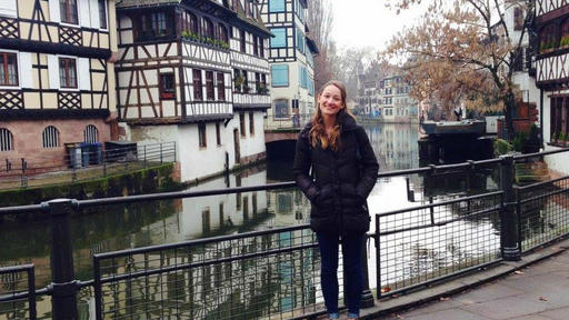 Danika poses for a photo during her study abroad trip in France.