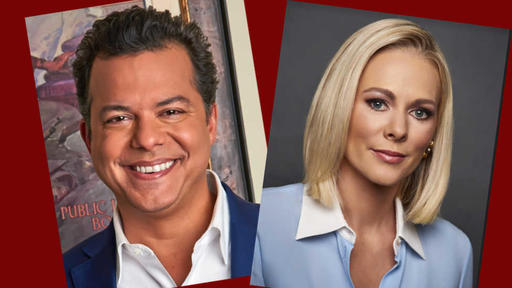 Headshots of Margaret Hoover and John Avlon